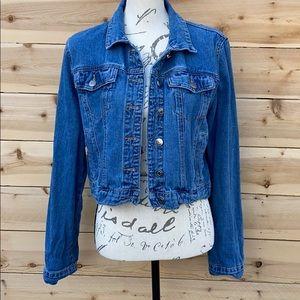 Forever 21 contemporary Denim Jean Crop Jacket